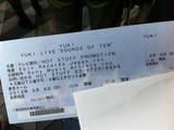 YUKIライブチケット