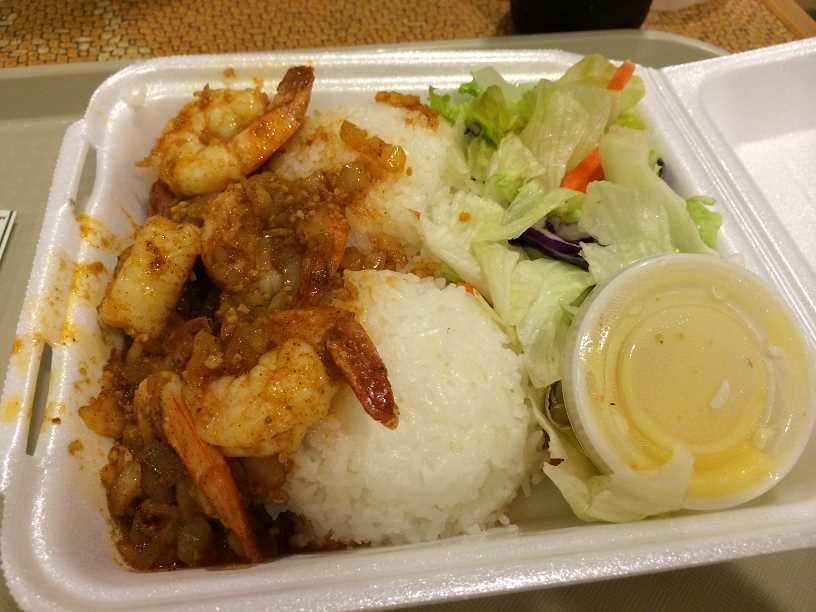ハワイのワイキキでガーリックシュリンプナンパ!